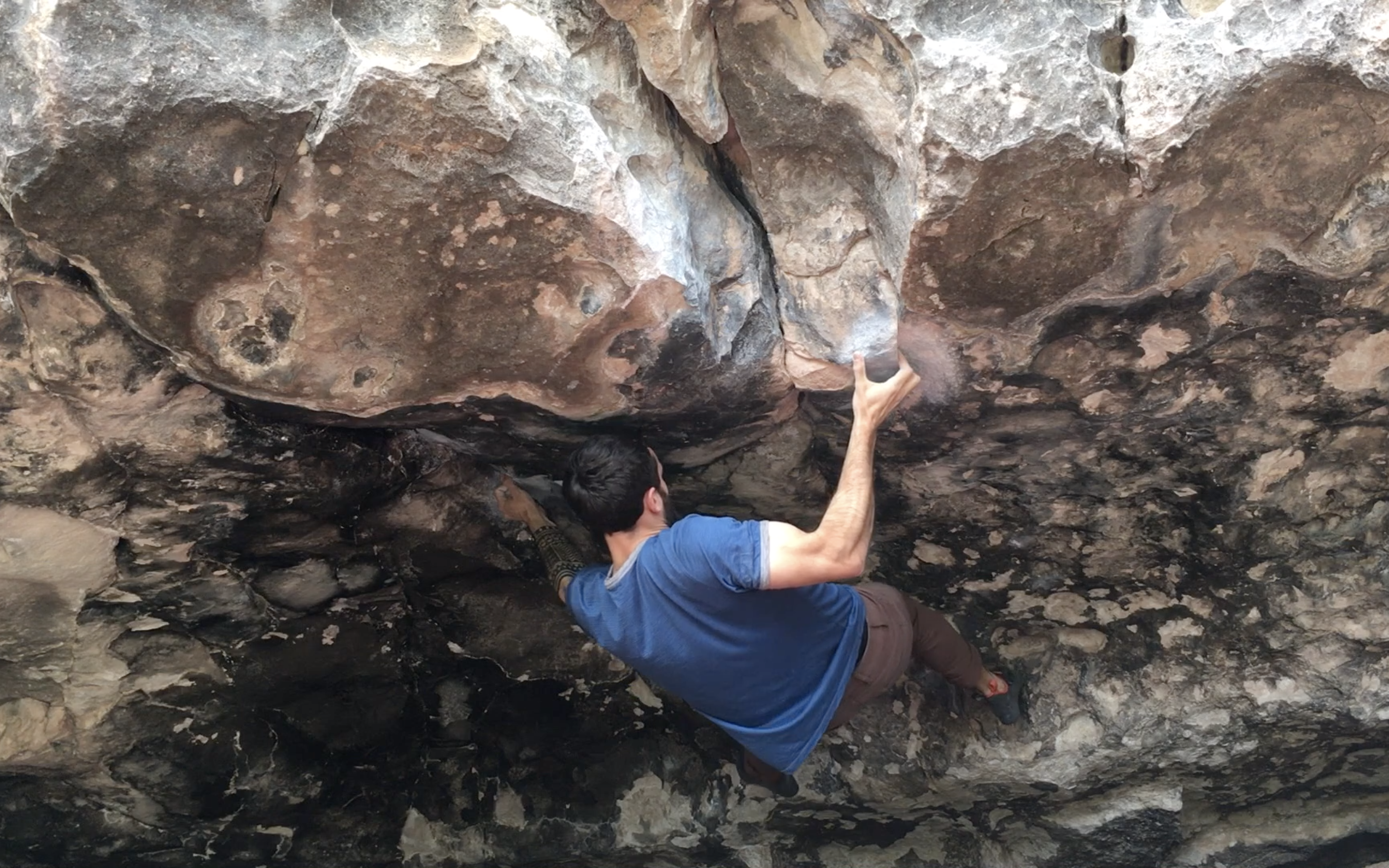 Finally sticking the crux at a boulder at Priest Draw