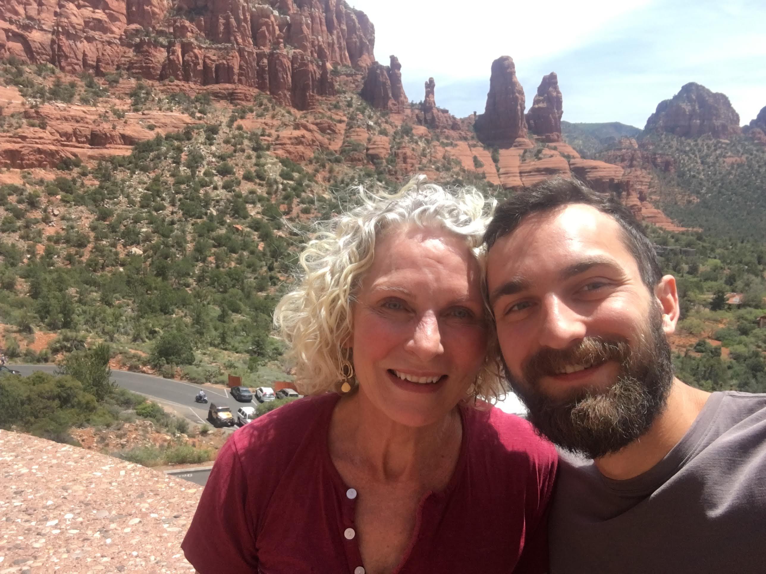 Mom and Zach in Sedona